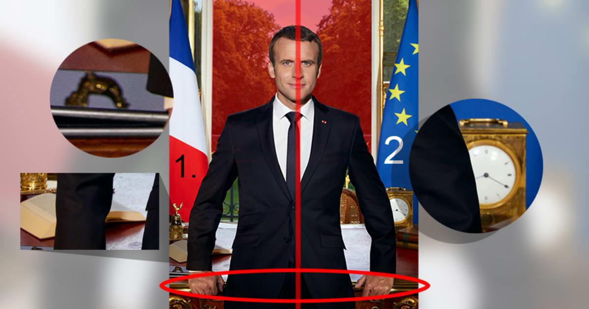 Dans Le Portrait Officiel D Emmanuel Macron Ces D 233 Tails