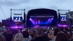 Un petit incendie sur scène interrompt un concert de Bruno Mars à