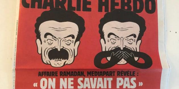 Moqué en Une de Charlie Hebdo, Mediapart répond
