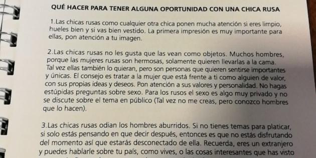 Sexisme. L'Argentine distribue un manuel
