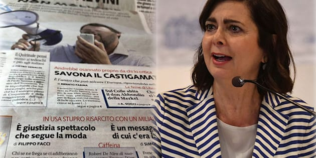 """Boldrini contro Libero: """"Accettare stupri per soldi? Po"""