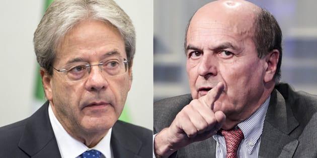 """Gentiloni difende il suo anno da premier, ma Bersani lo stronca: """"Caro Paolo, non dimentico quello che ha fatto"""""""
