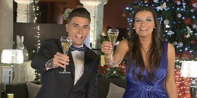 Los presentadores Miriam García y Javier Mardones en la foto promocional del especial Nochevieja de rtvcyl.es