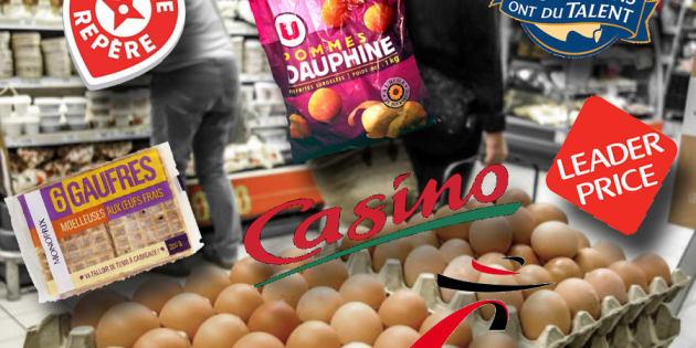 Œufs contaminés au fipronil: plus de 80% des produits retirés de la vente sont des marques de distributeurs