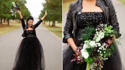 19 Fly-As-Hell Brides Who Rocked A Leather Jacket With A Wedding