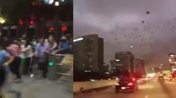 Touristes et locaux filment l'impressionnant séisme au