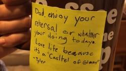 Il post-it del figlio undicenne di Chester un mese prima del suicidio del cantante ora sembra una