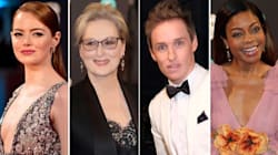 The Stars Come Out For The Baftas Red