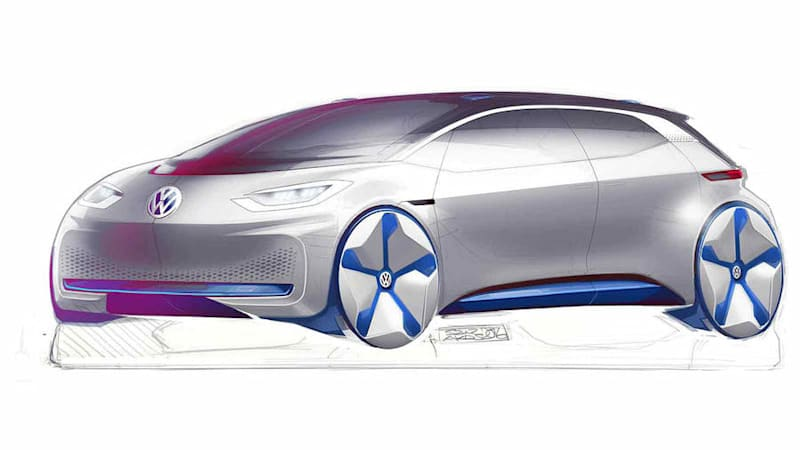Vw Electric Concept Looks Like A Tesla Crossed With A Bmw I3 Autoblog