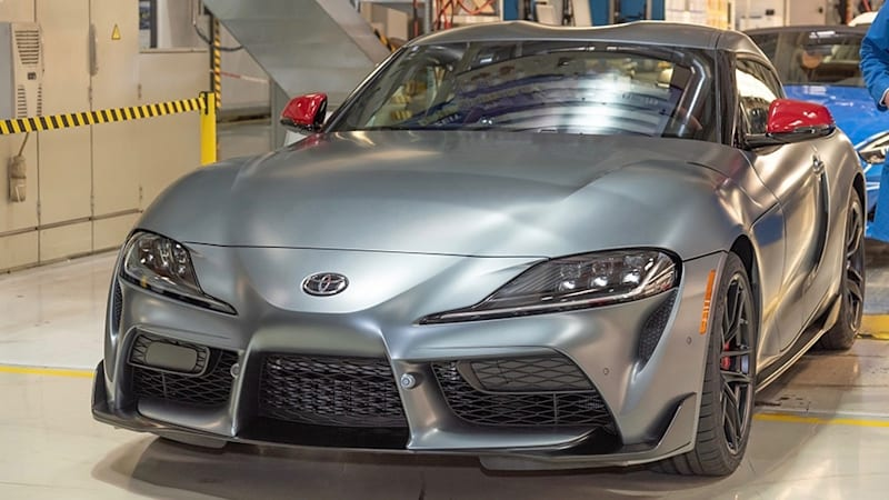 2020 Toyota Supra No. 1 comes off the line
