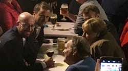 Merkel, Macron y Michel se van de 'birras' por Bruselas tras la cumbre del