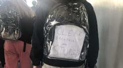 Les lycéens de Parkland sont forcés de porter des sacs transparents, et cela ne leur plaît pas du