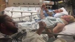 La photo bouleversante de ces jeunes hockeyeurs rescapés de l'accident qui a fait 15 morts au
