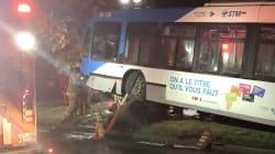 Un autobus de la STM frappe un