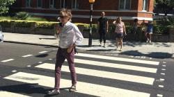 Paul McCartney recreó el cruce de Abbey Road y esto fue lo que