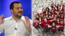 Salvini ironizza sulle magliette rosse in memoria dei bambini morti in