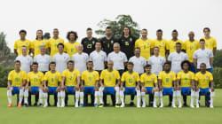 A foto oficial da Seleção Brasileira, pronta para a Copa da