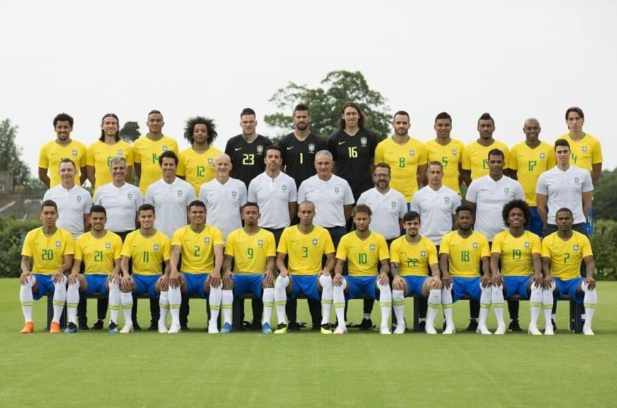 Foto oficial da Seleção foi divulgada a poucos dias do início da Copa do Mundo da Rússia.