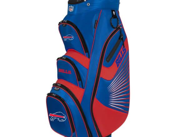 NFL team-branded golf bag has built-in drink pocket