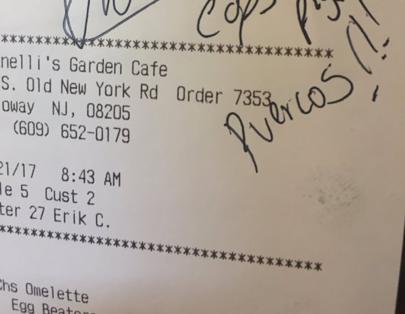 Restaurant employee fired for anti-police note