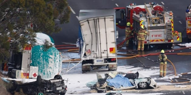 Police and emergency services are currently at the scene of a collision in Keilor Park.