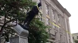 Demonstrators Tear Down Confederate Statue In North