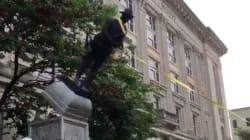 Demonstrators Tear Down Confederate Statue In North
