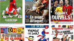 La presse belge très inspirée par le choc face aux
