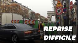 Reprise difficile sur les Champs-Élysées après la mobilisation des gilets