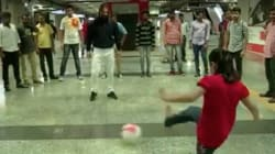 When Legendary Footballer Carles Puyol Turned Andheri Metro Station Into A Football