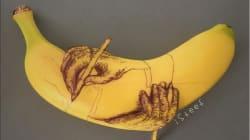 Cet artiste va vous faire voir les peaux de bananes