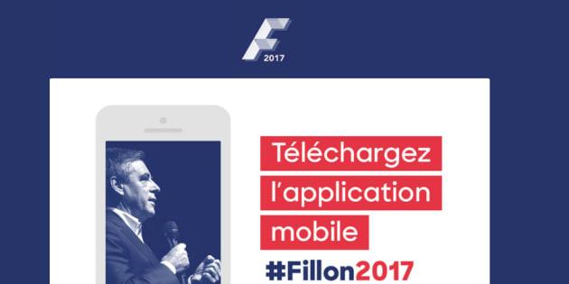 """En plein """"Penelope Gate"""", l'équipe de François Fillon sort une application à destination des militants"""