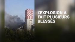 Les images de l'explosion et de l'incendie d'un silo à