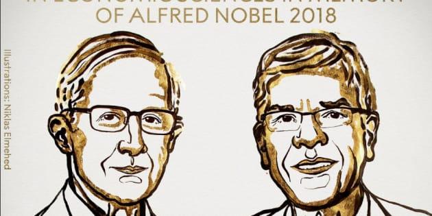 """Le """"prix Nobel"""" d'économie 2018 décerné à William Nordhaus et Paul Romer, pour leurs travaux sur le climat et la technologie"""