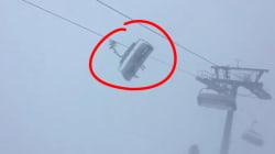 Surpris par Eleanor sur leur télésiège, ces skieurs ont vécu un