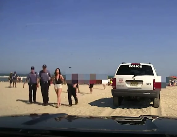 Woman in viral beach arrest video indicted