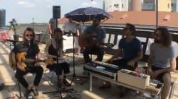 Le live d'Omoh sur la terrasse du