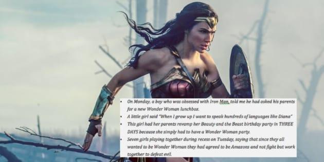 """""""Wonder Woman"""" fait réagir les enfants de maternelle"""