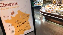 Cette carte de France des fromages d'une chaîne de supermarchés américaine est un