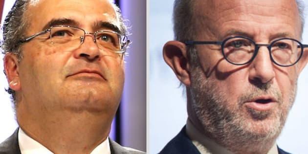 Ángel Ron y Emilio Saracho, expresidentes del Popular, ahora investigados por la Audiencia Nacional.