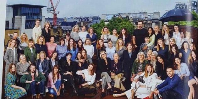 L'équipe duBritish Voguesous la direction de l'exrédactrice en chefAlexandra Shulman.