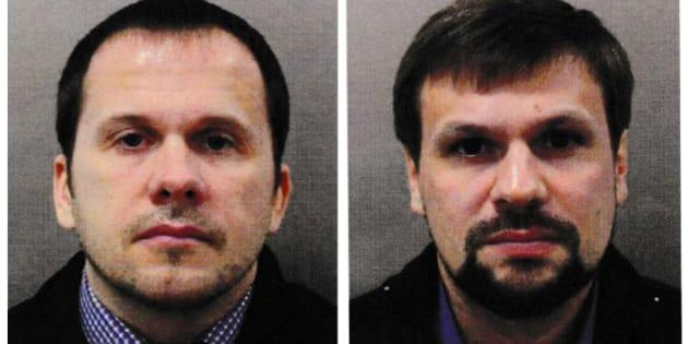 Alexander Petrov y Ruslan Boshirov, identificados como los supuestos autores del ataque.