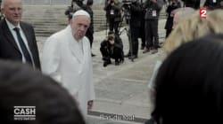 Donc Élise Lucet a carrément interpellé le pape pour