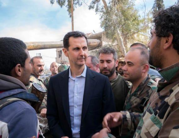 Syrian president flaunts battlefront advances
