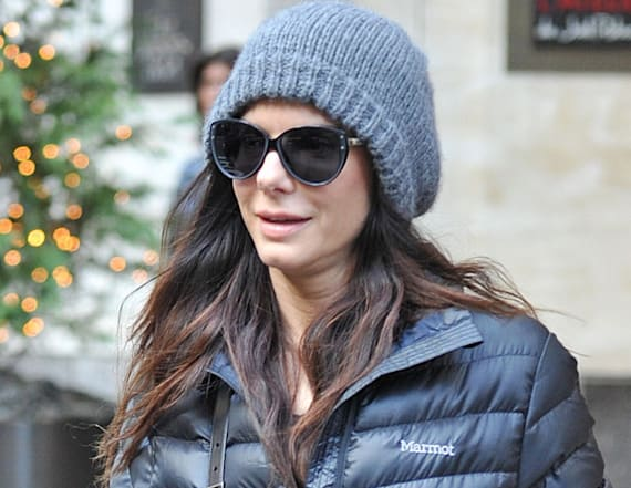 Sandra Bullock wore the easiest rainy-day outfit