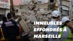 Les images des immeubles effondrés à