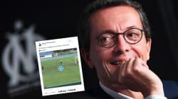 Le président de l'OM a vu dans cette vidéo une allégorie du match contre le