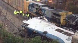 Les images après la collision de deux trains en Caroline du