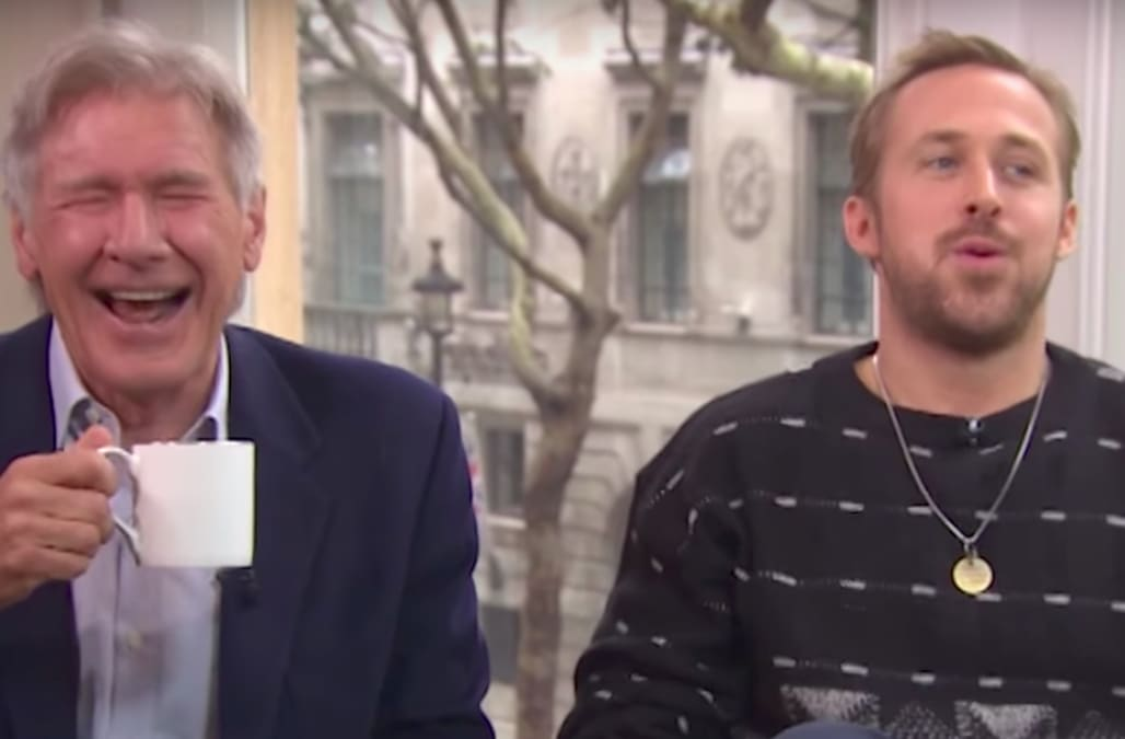 Harrison Ford And Ryan Gosling Lose It On Camera