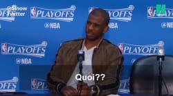 La star du basket, Chris Paul, s'énerve face à la question de ce